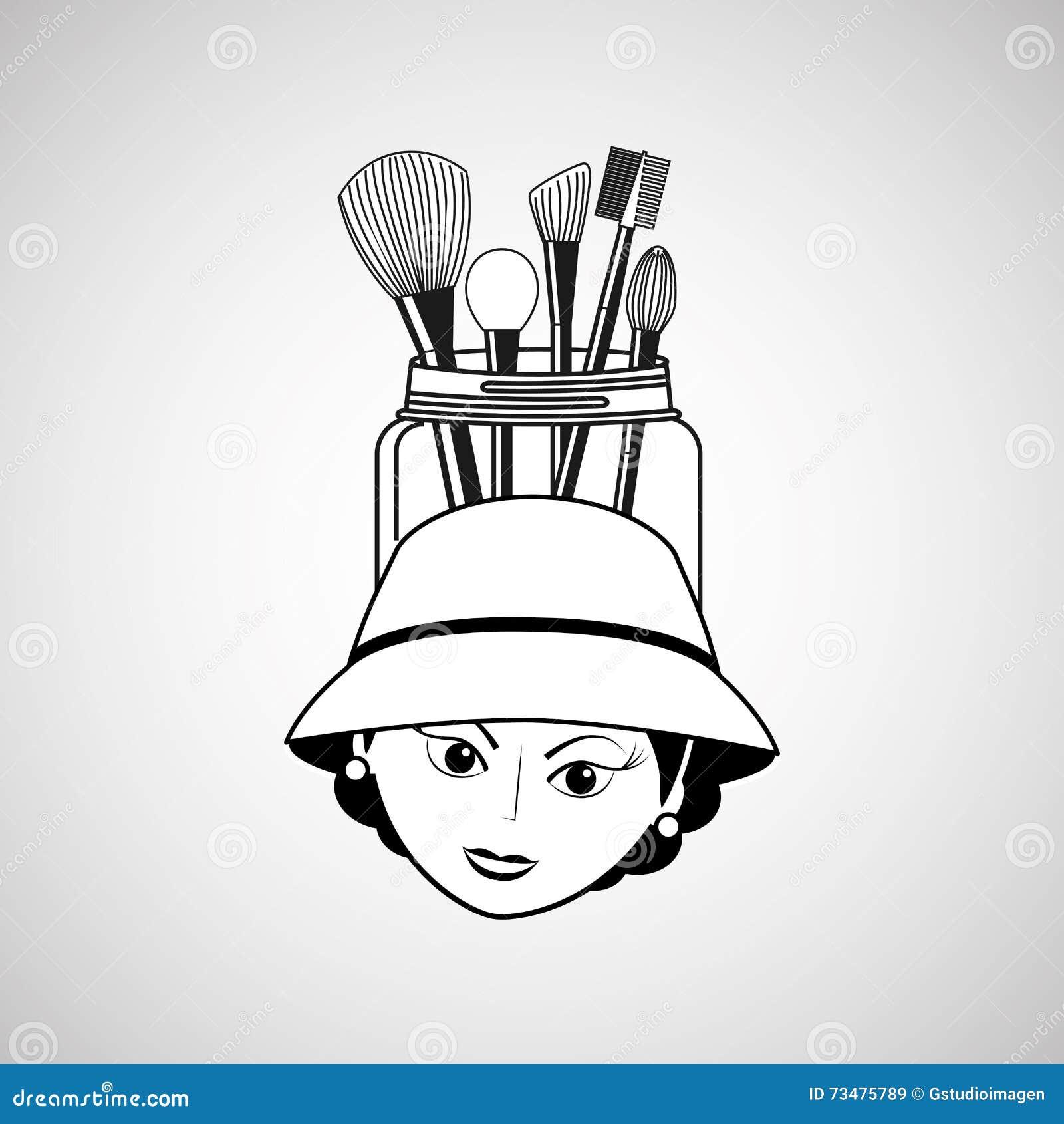 Diseño femenino del maquillaje