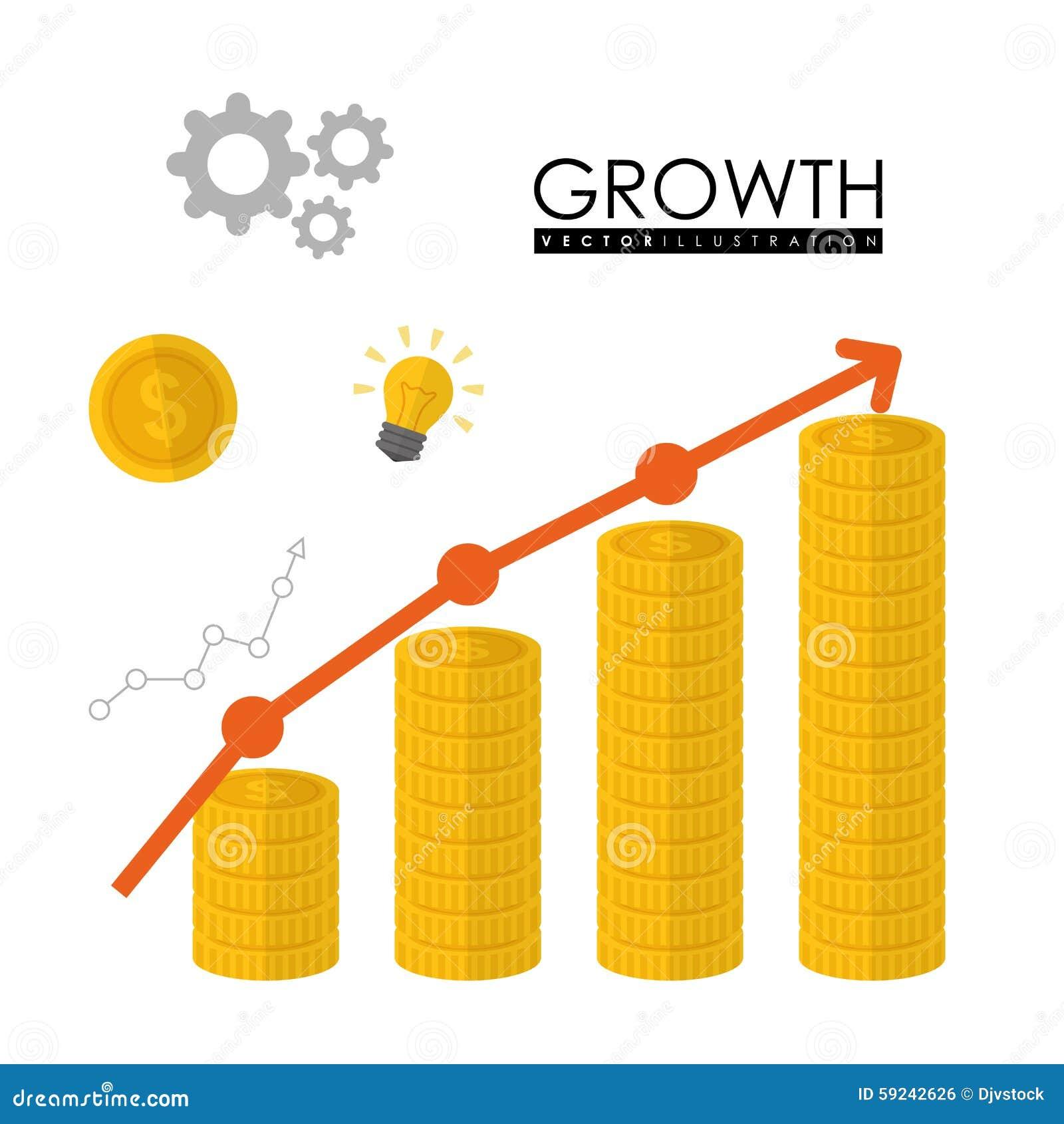Download Diseño Financiero Del Crecimiento Ilustración del Vector - Ilustración de exactitud, monedas: 59242626