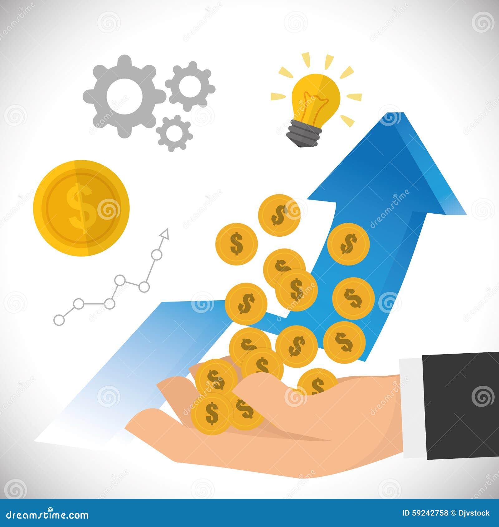 Download Diseño Financiero Del Crecimiento Ilustración del Vector - Ilustración de ilustración, monedas: 59242758