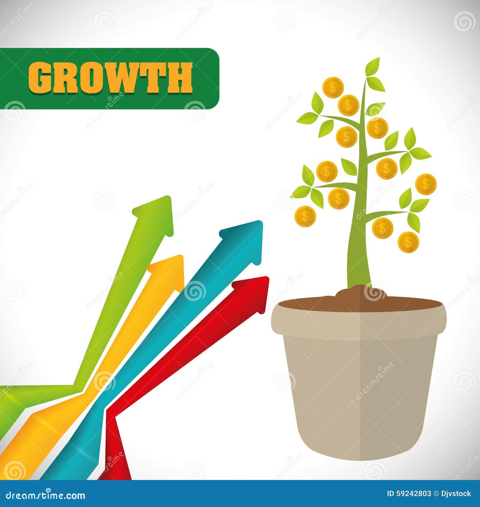 Download Diseño Financiero Del Crecimiento Ilustración del Vector - Ilustración de aspiraciones, comercialización: 59242803