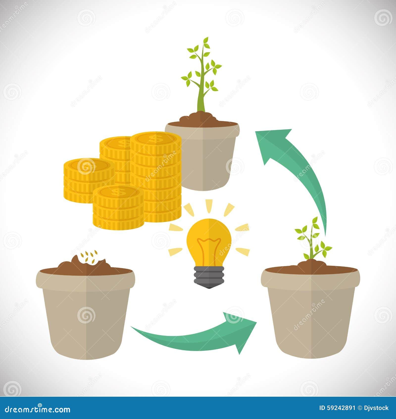 Download Diseño Financiero Del Crecimiento Ilustración del Vector - Ilustración de extracto, progreso: 59242891