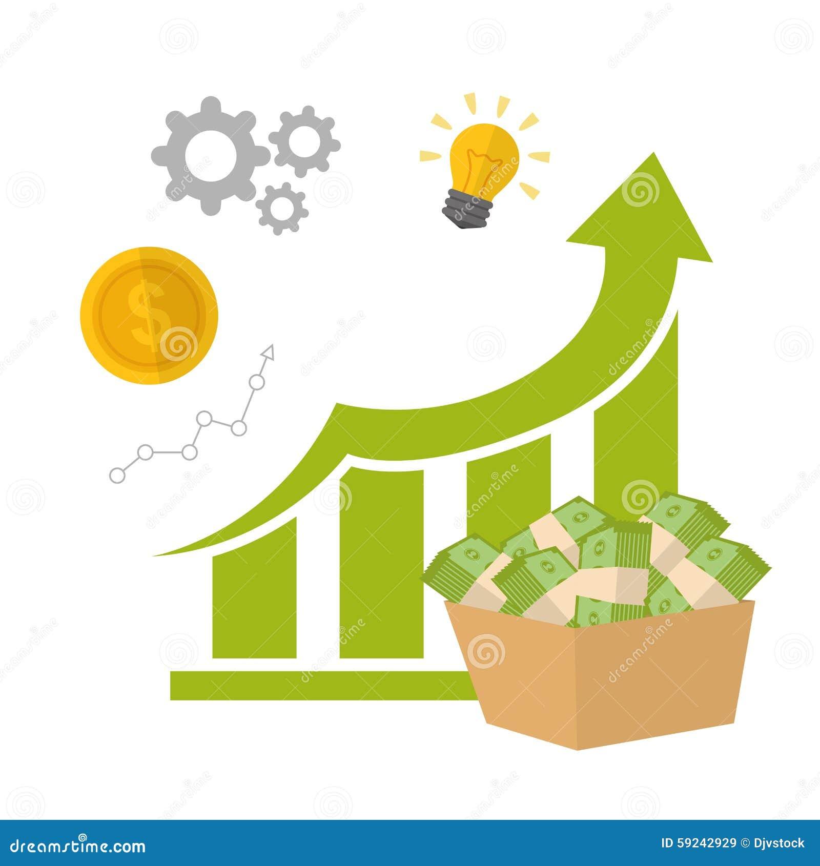 Download Diseño Financiero Del Crecimiento Ilustración del Vector - Ilustración de aspiraciones, progreso: 59242929