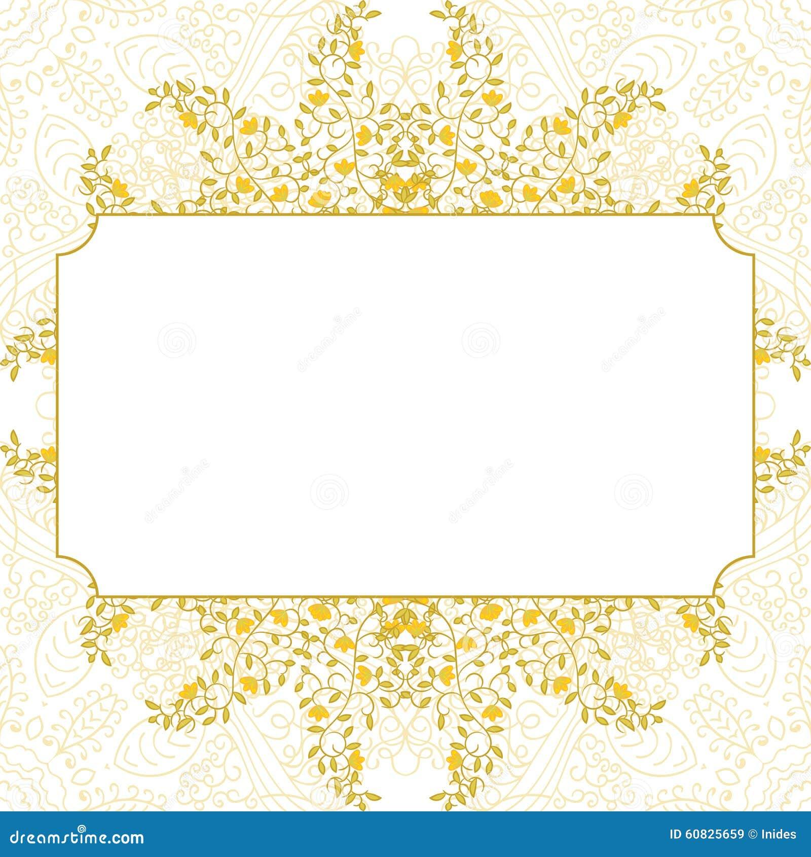 Diseño floral de la plantilla de la tarjeta del remolino