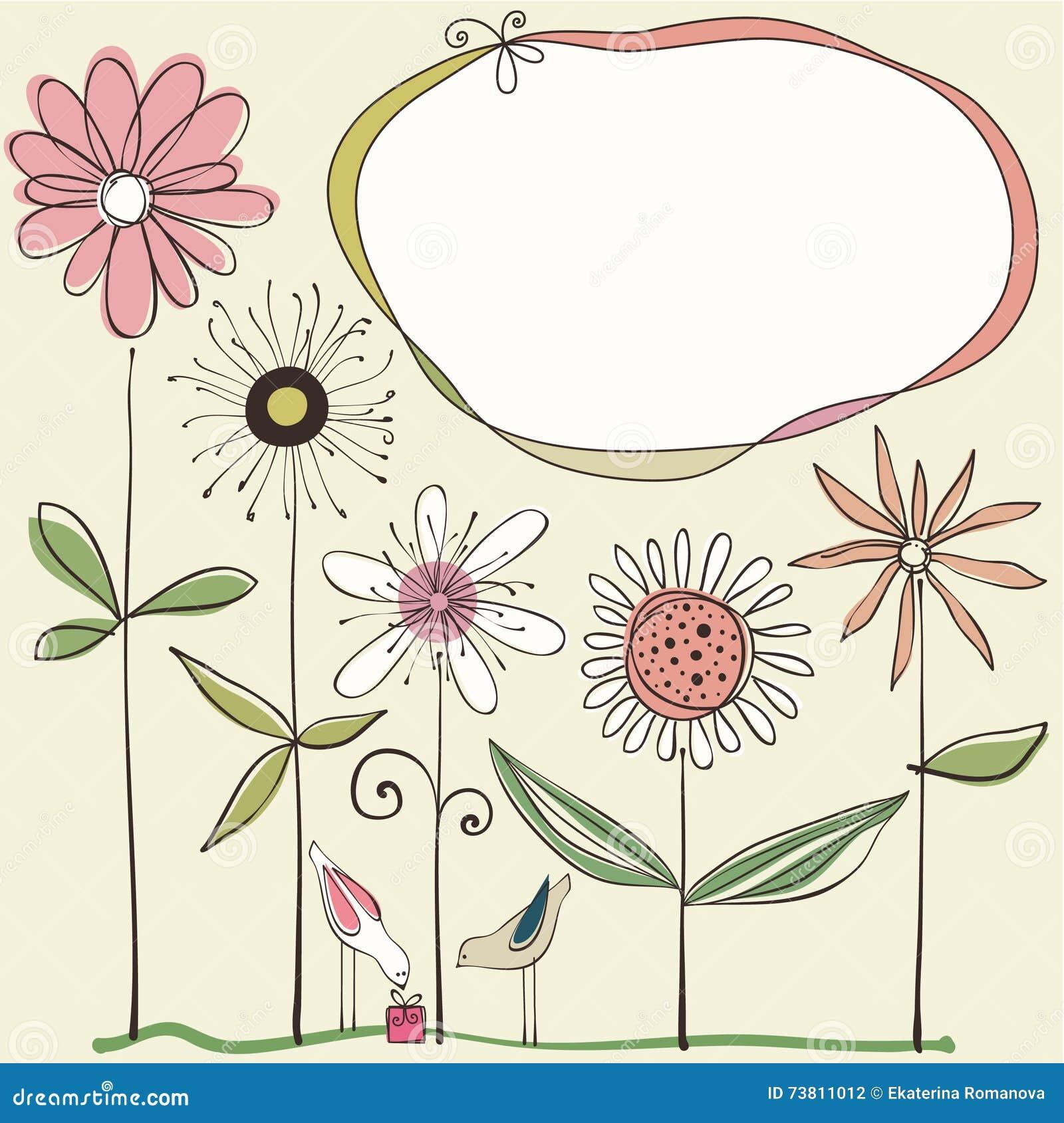 Diseño floral lindo