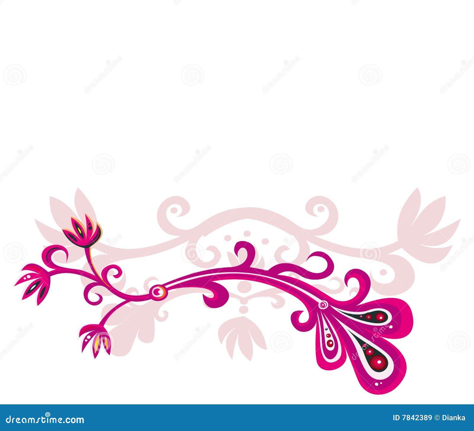Diseño floral rosado