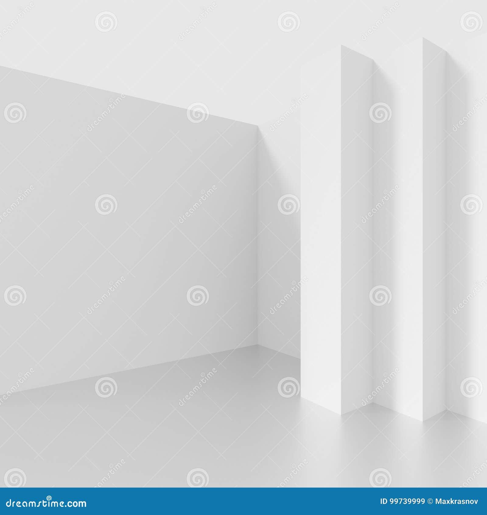 Diseño futurista de la configuración Fondo blanco con el minimalist