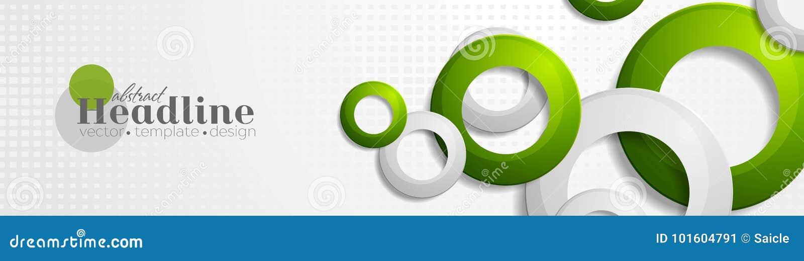 Diseño geométrico de la bandera de la tecnología con los anillos