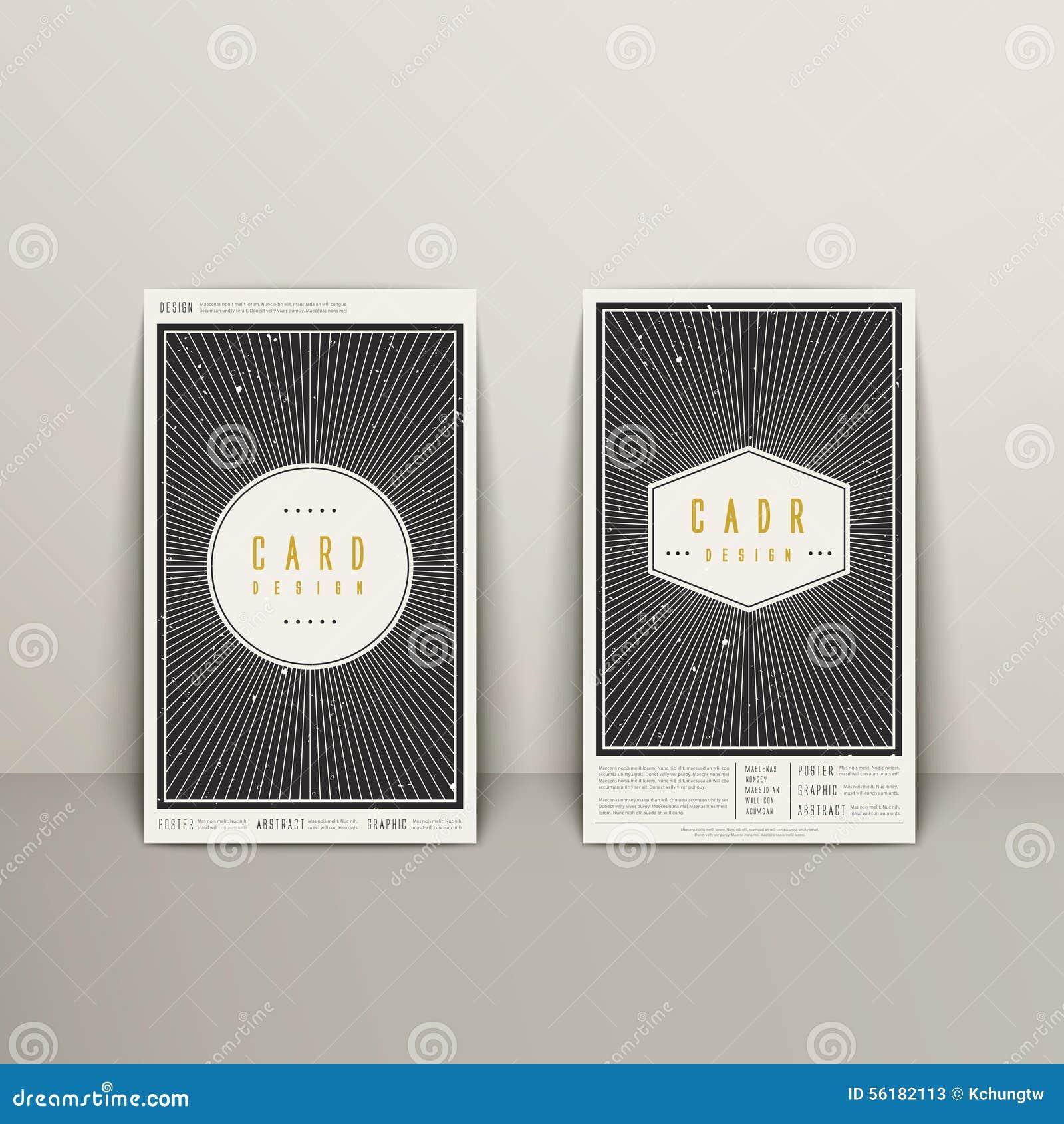 Diseño geométrico de moda de la tarjeta de visita del elemento