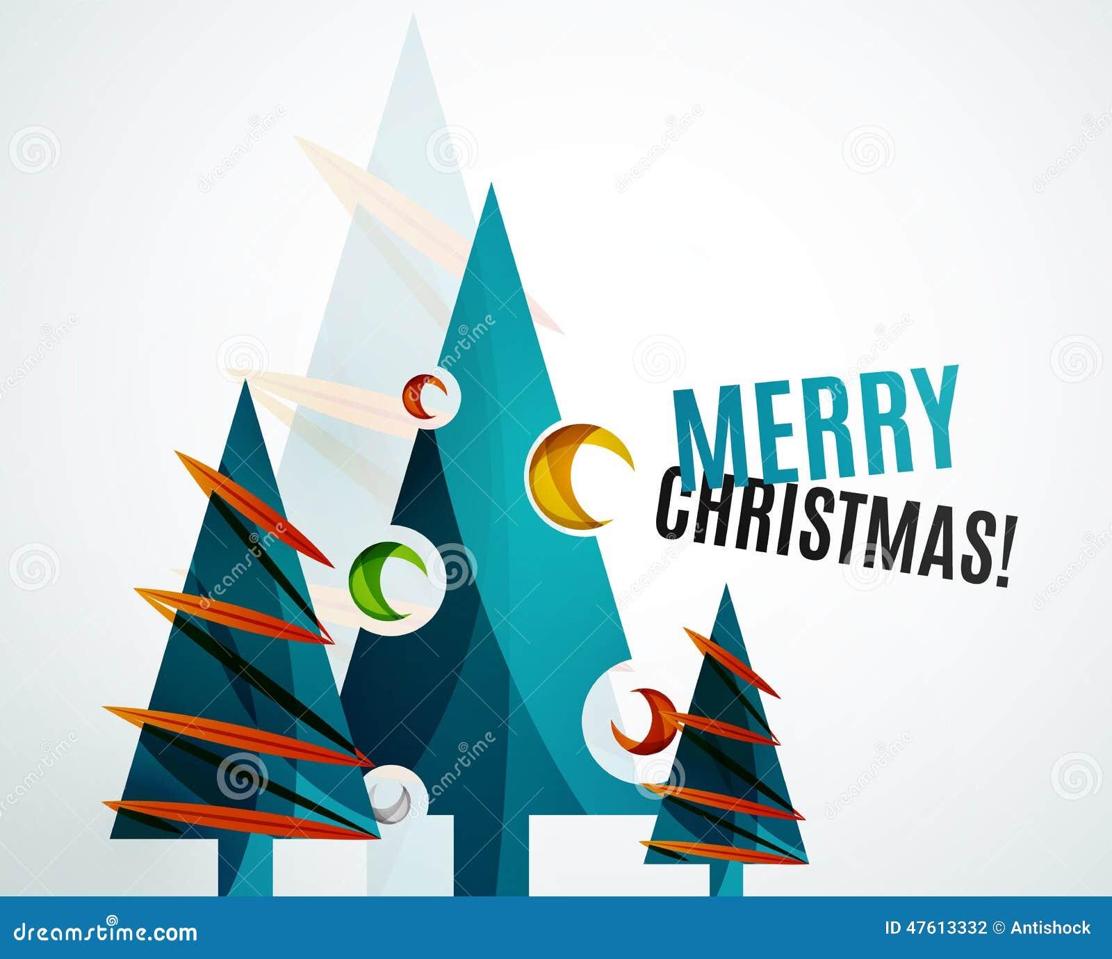 Diseño geométrico del árbol de navidad
