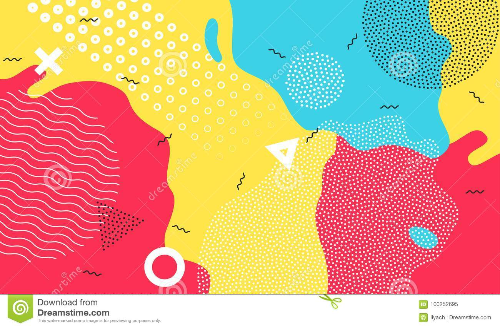Diseño geométrico del niño de la historieta del color del chapoteo del fondo del patio del extracto infantil colorido del vector