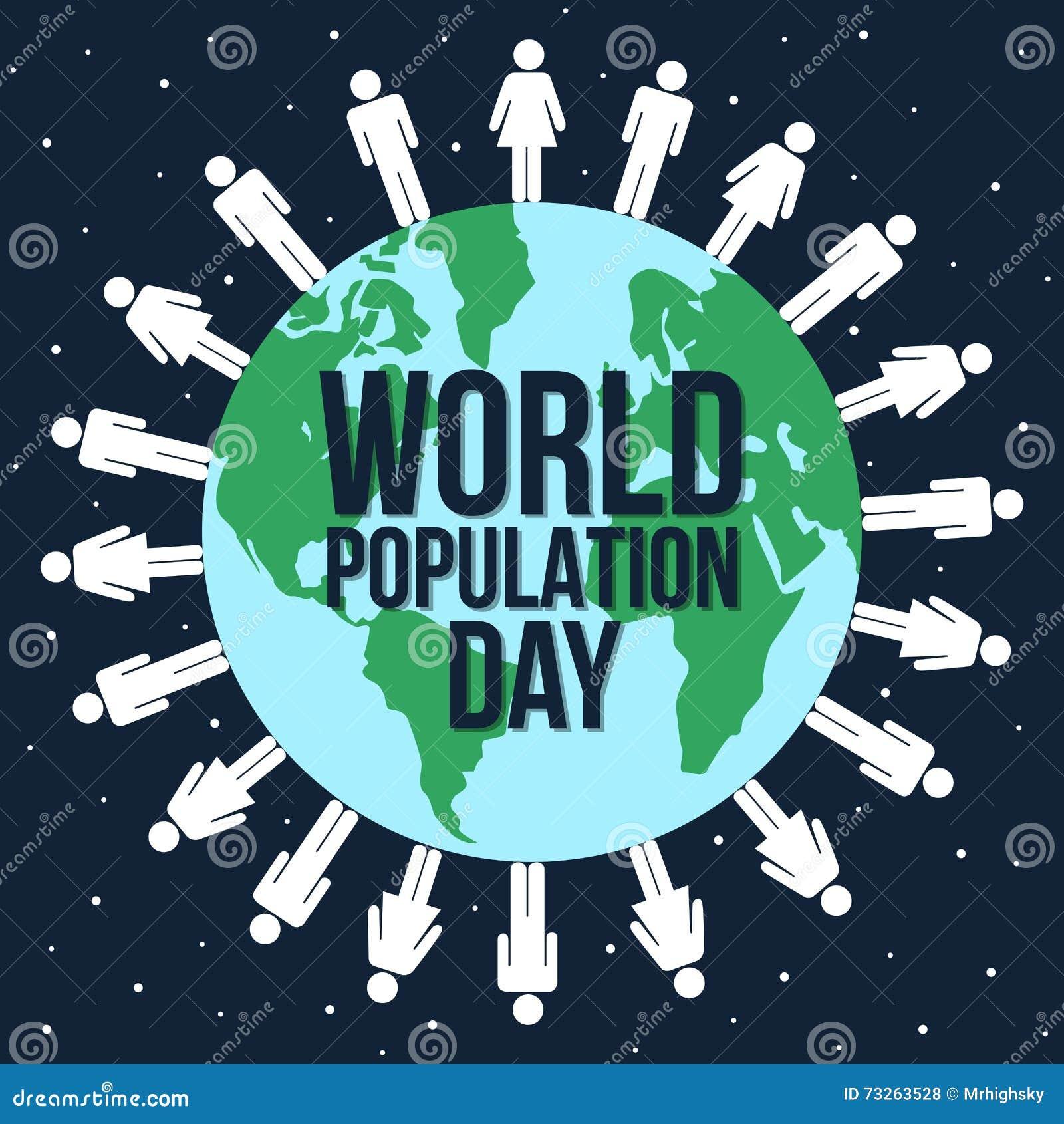 Diseño gráfico del día de la población de mundo