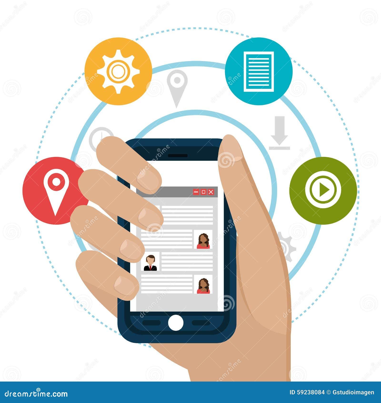 Diseño gráfico del medios entretenimiento social