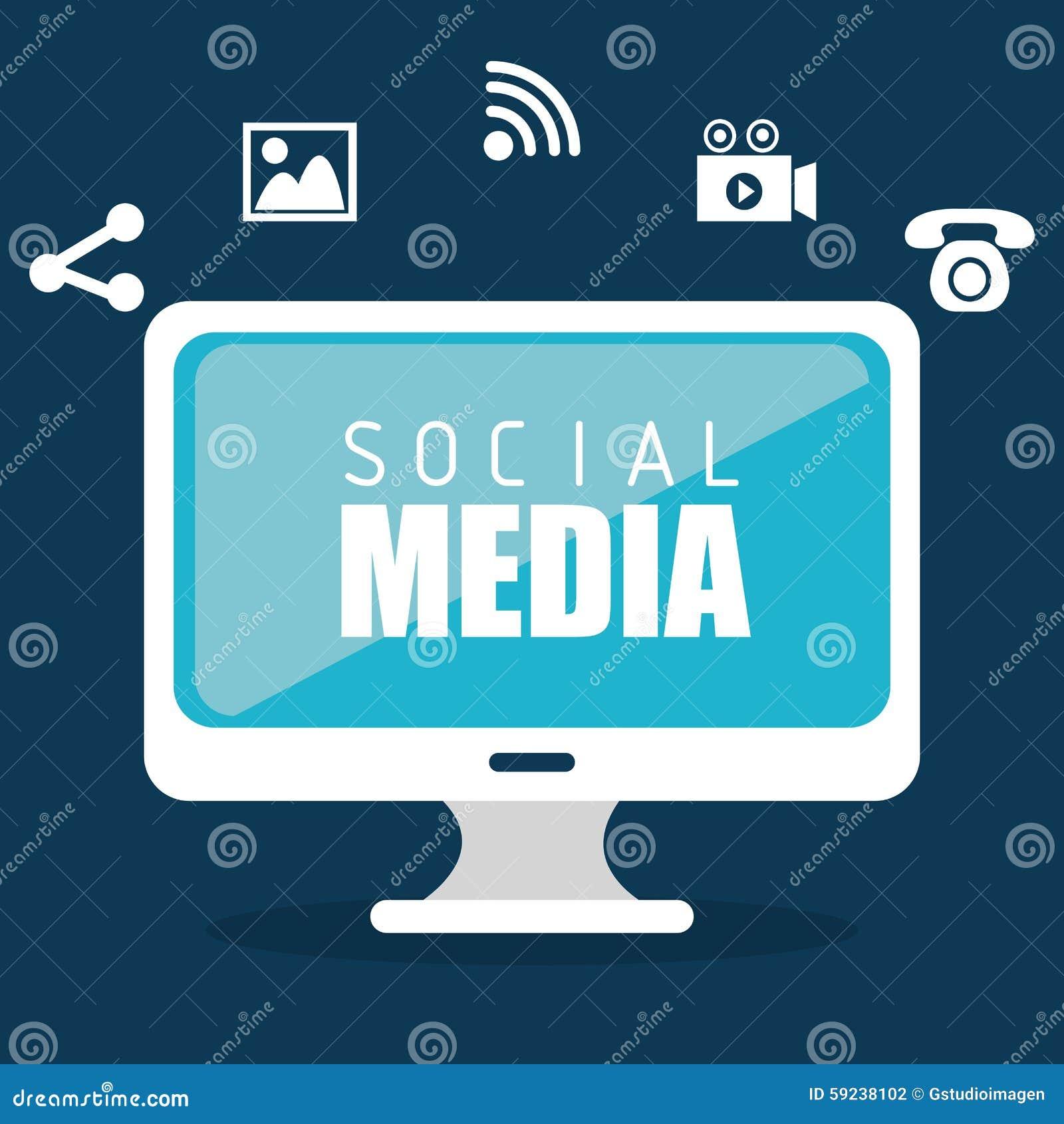 Download Diseño Gráfico Del Medios Entretenimiento Social Ilustración del Vector - Ilustración de digital, teamwork: 59238102