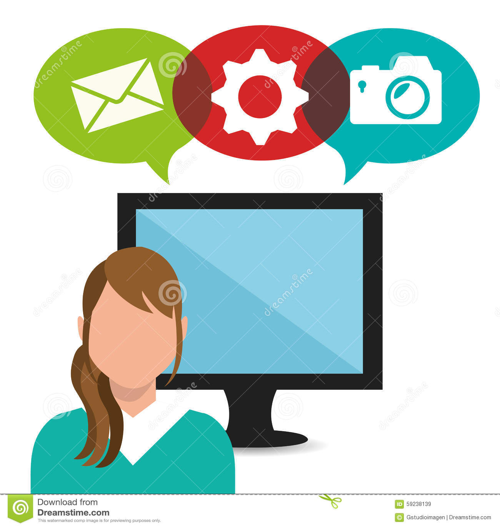Download Diseño Gráfico Del Medios Entretenimiento Social Ilustración del Vector - Ilustración de engranaje, multimedias: 59238139