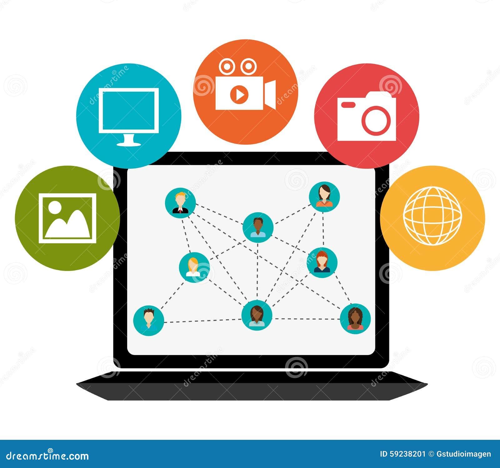 Download Diseño Gráfico Del Medios Entretenimiento Social Ilustración del Vector - Ilustración de cliente, camera: 59238201