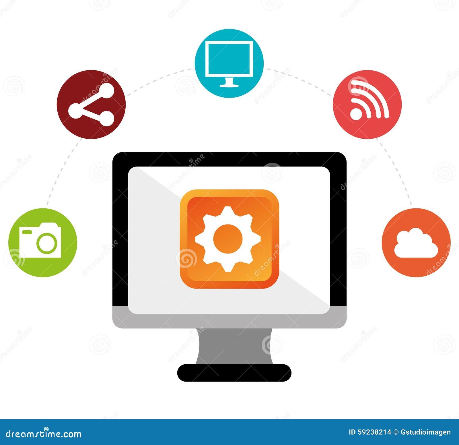 Download Diseño Gráfico Del Medios Entretenimiento Social Ilustración del Vector - Ilustración de multimedias, media: 59238214
