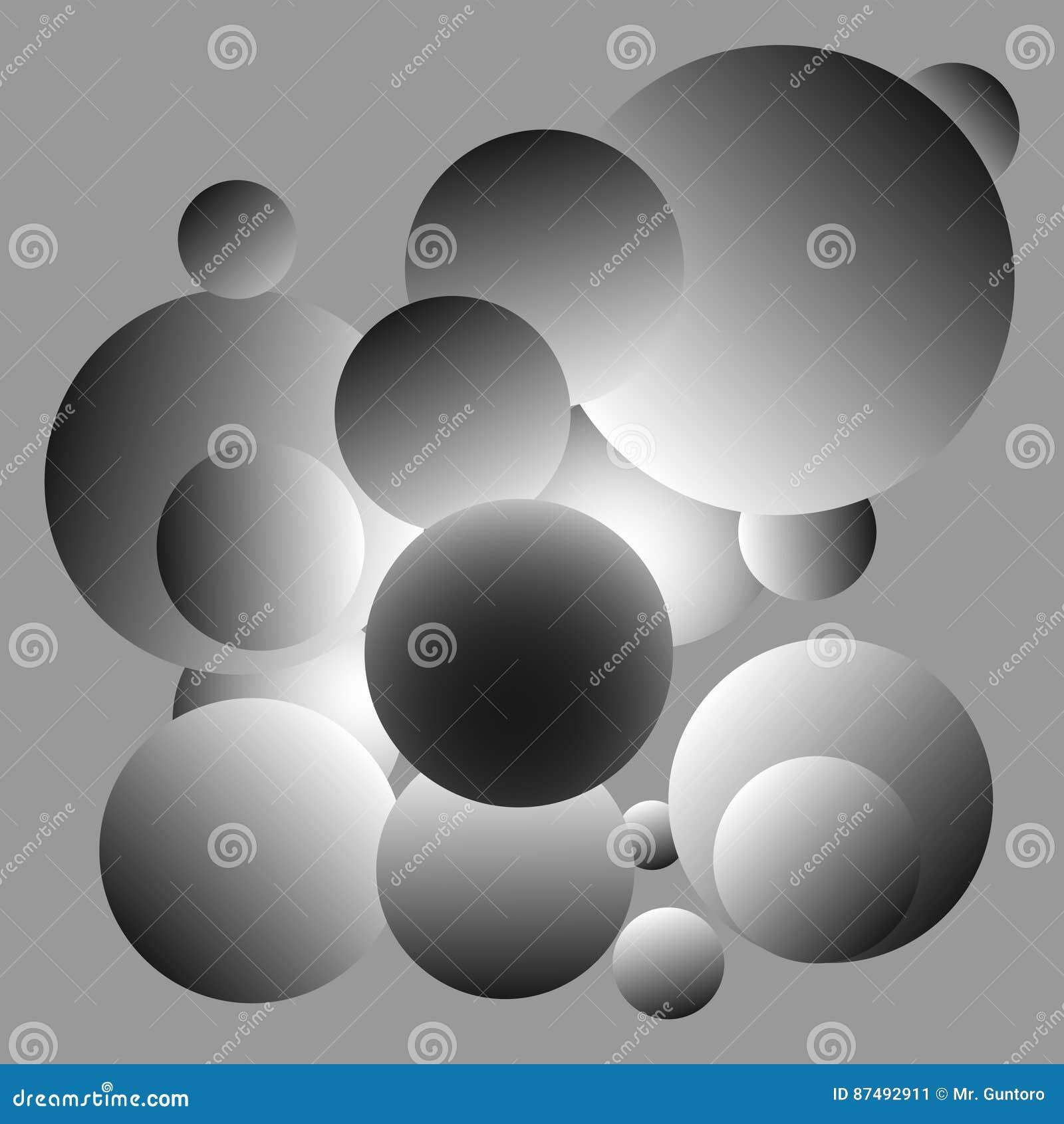 Diseño gris brillante del fondo de las bolas
