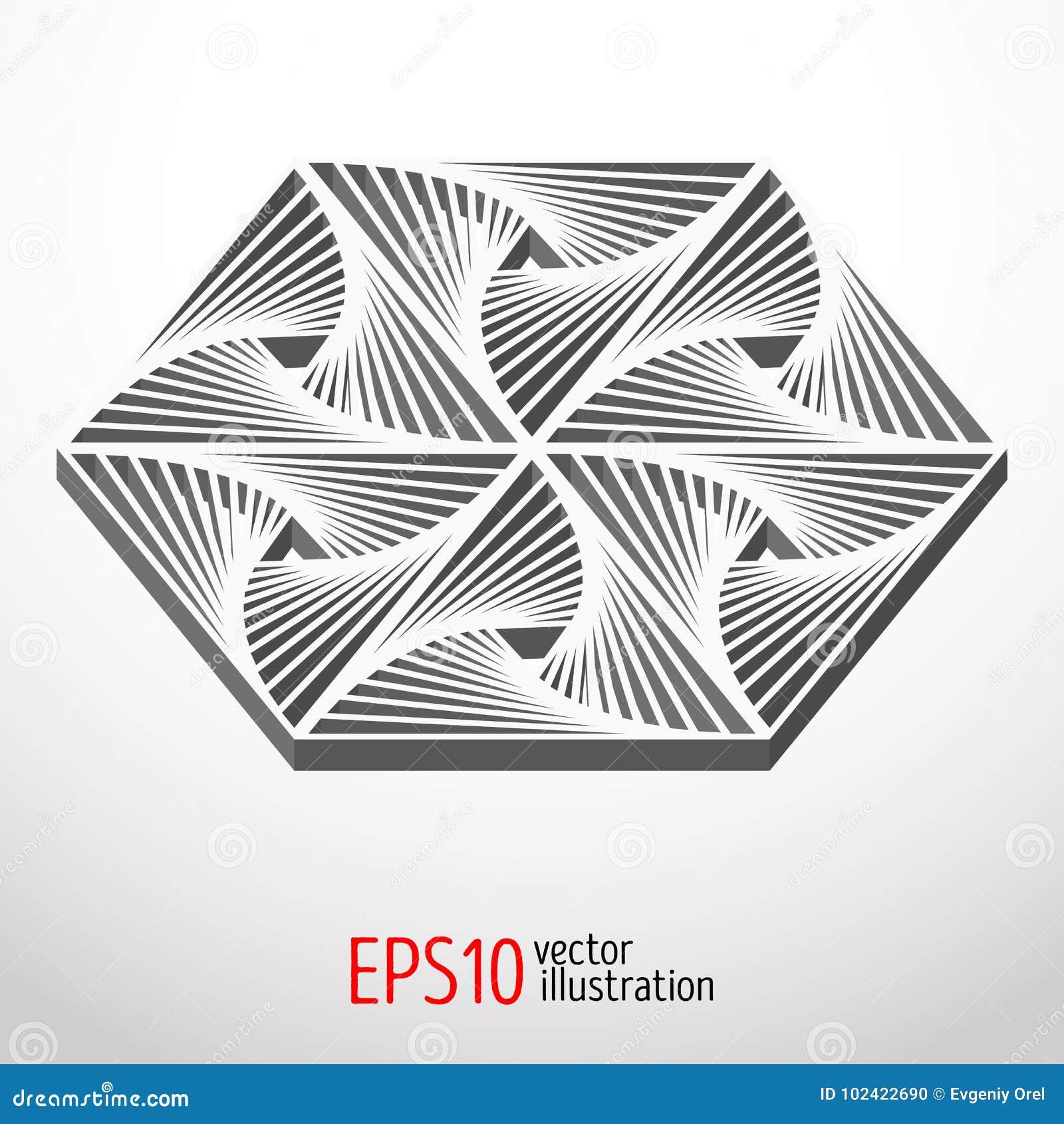Diseño Hexagonal 3d Forma Sacra Del Misterio De La Geometría ...