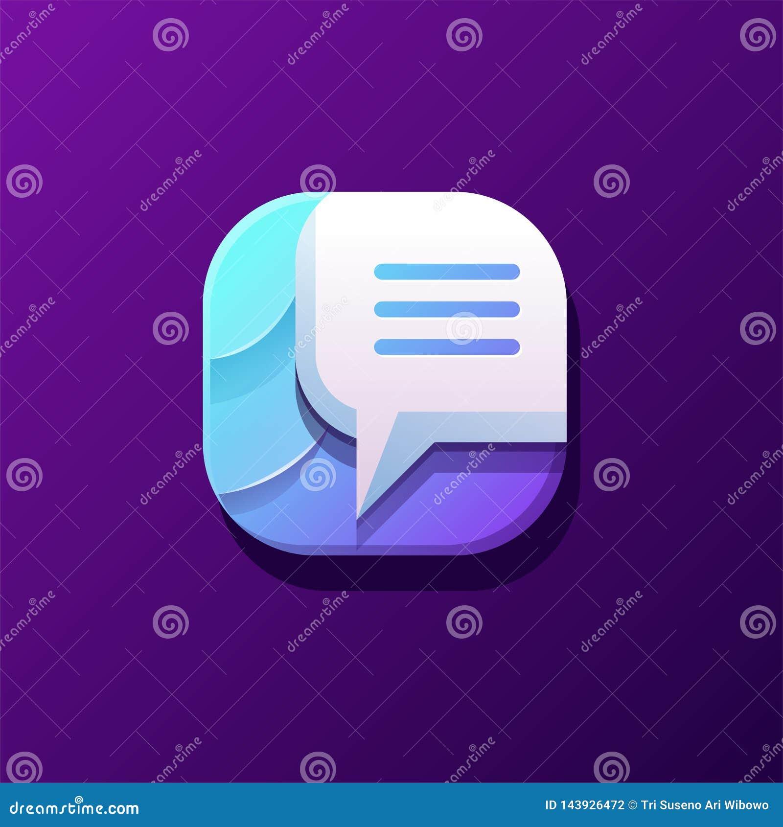 Diseño impresionante del icono de la charla listo para utilizar