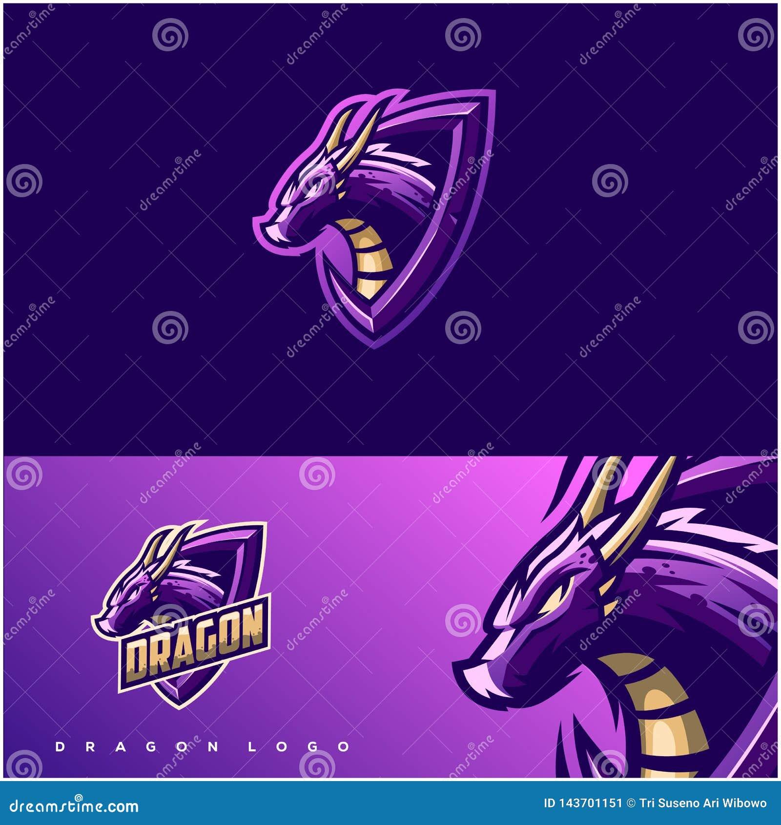 Diseño impresionante del logotipo del dragón