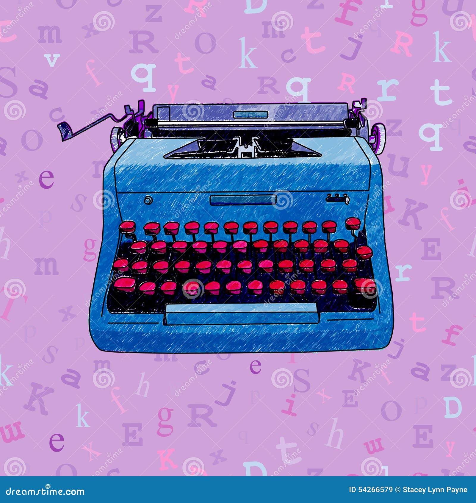 Diseño inconsútil dibujado mano de la máquina de escribir