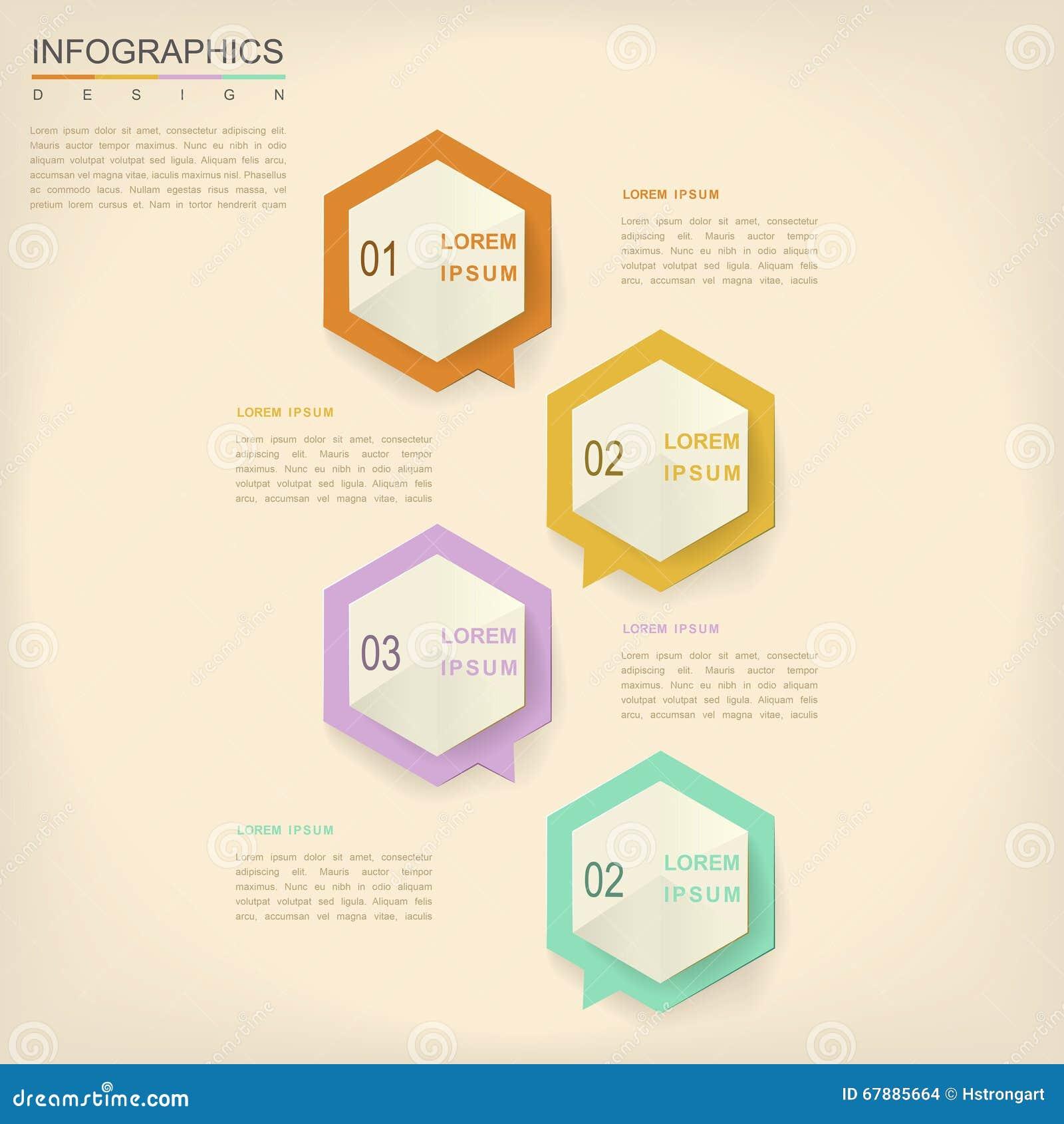 Diseño infographic de la simplicidad