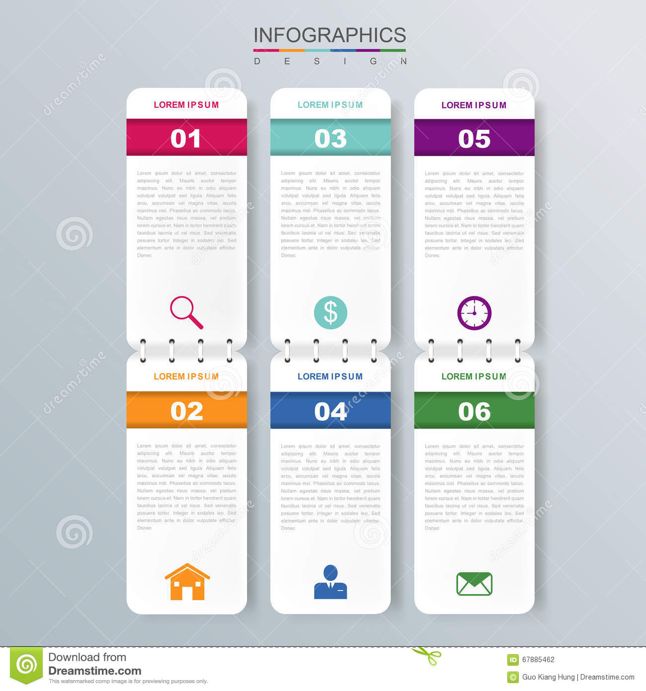 Diseño infographic moderno