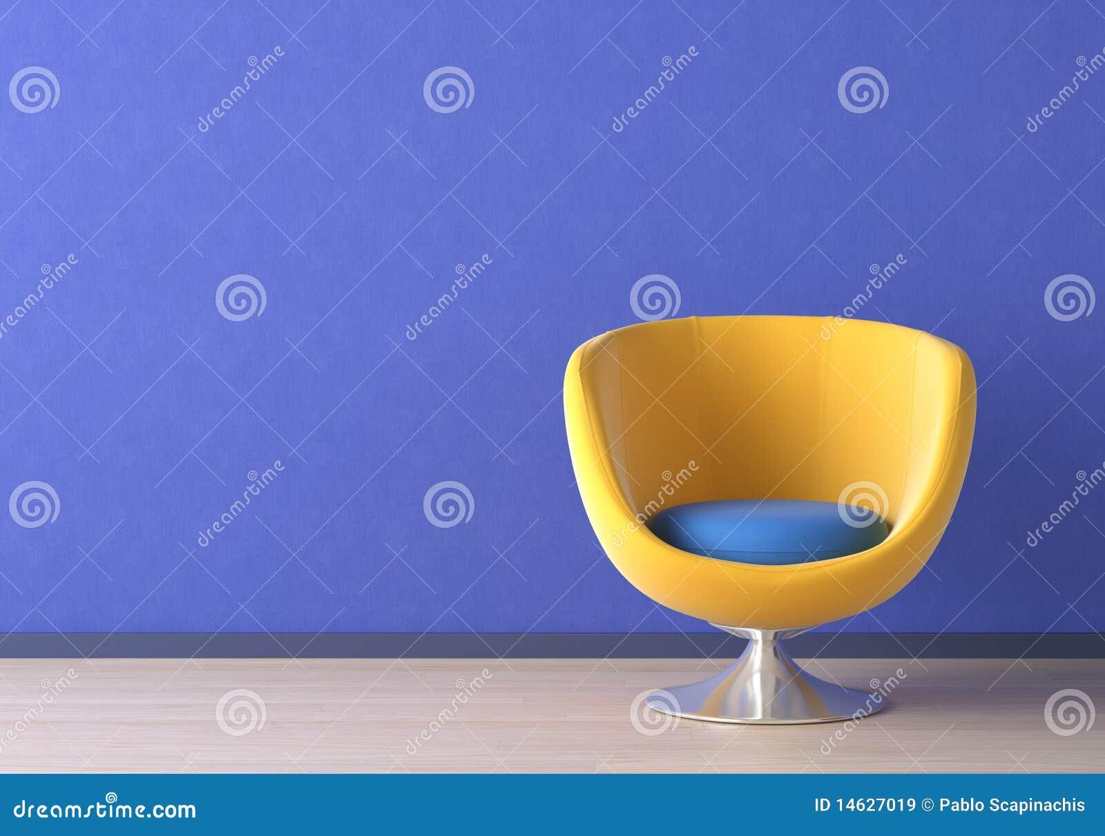 Diseño interior con la silla amarilla