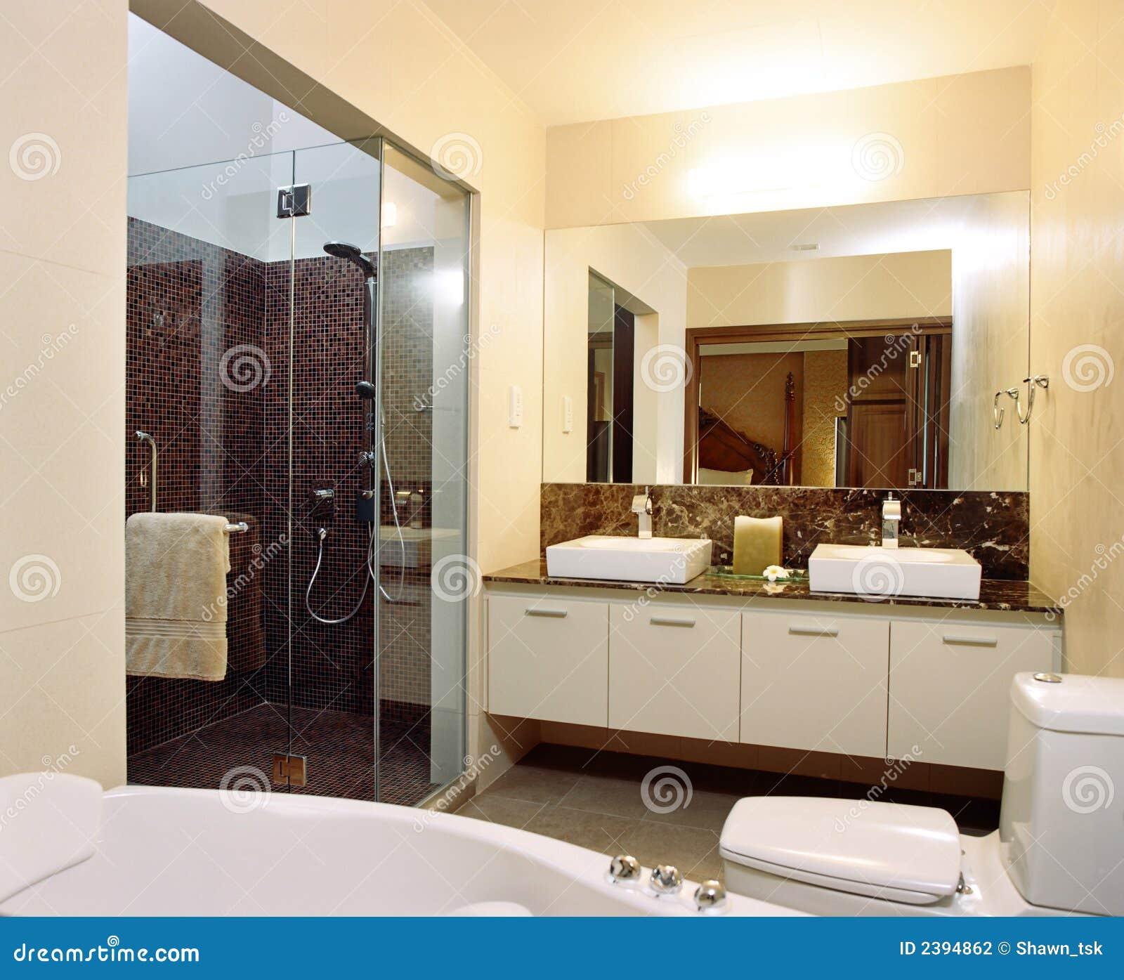 Dise o interior cuarto de ba o foto de archivo imagen for Diseno de interiores recamara principal