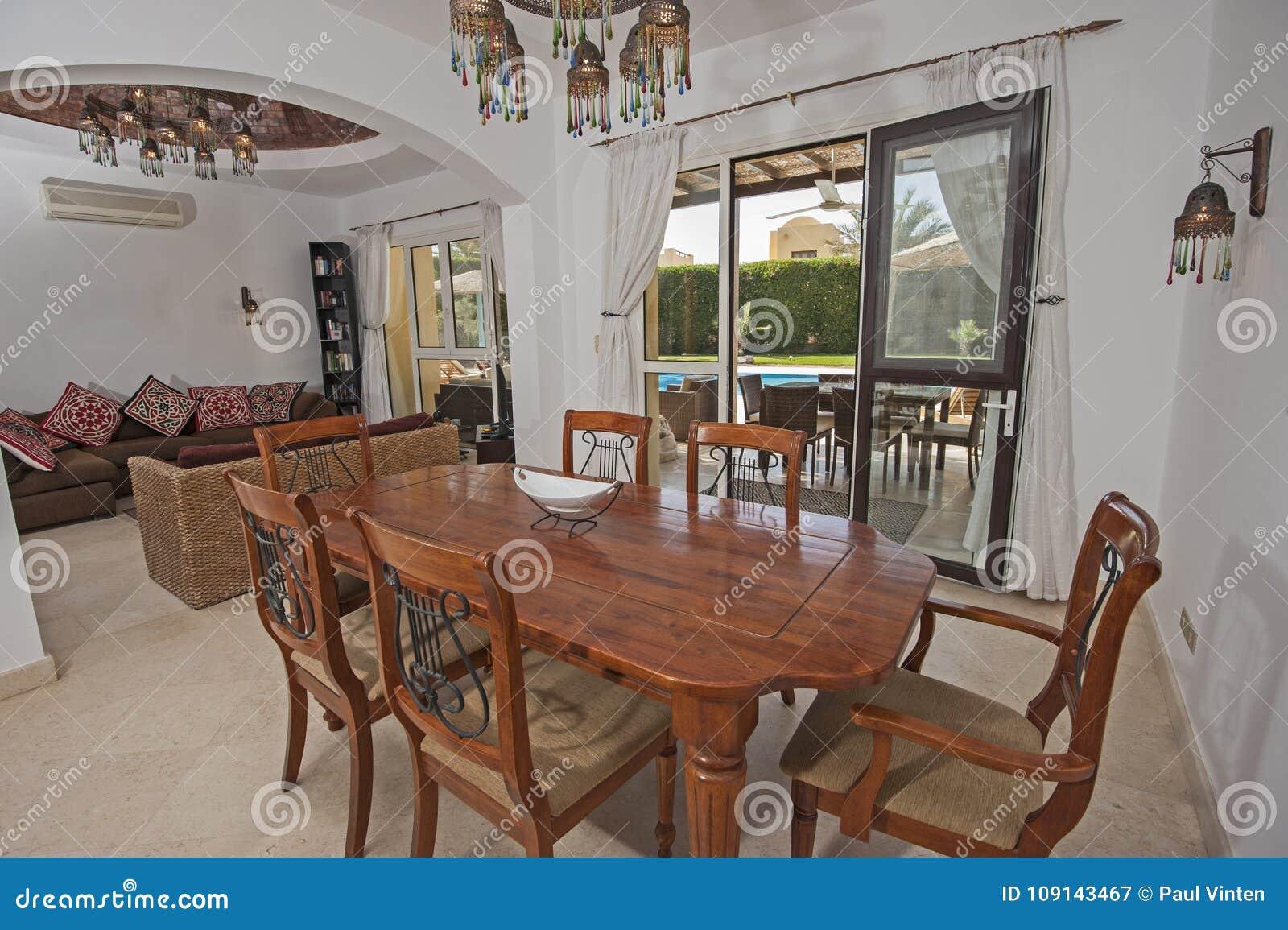 Diseño Interior De Comedor De Lujo Y De Salón Imagen de ...