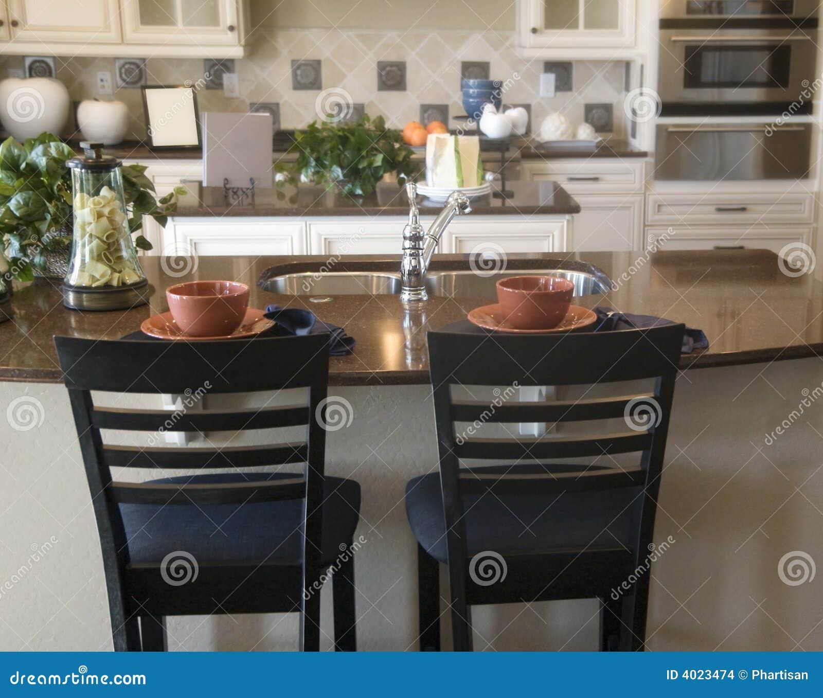 Dise o interior de la cocina moderna imagenes de archivo for Diseno interior cocina