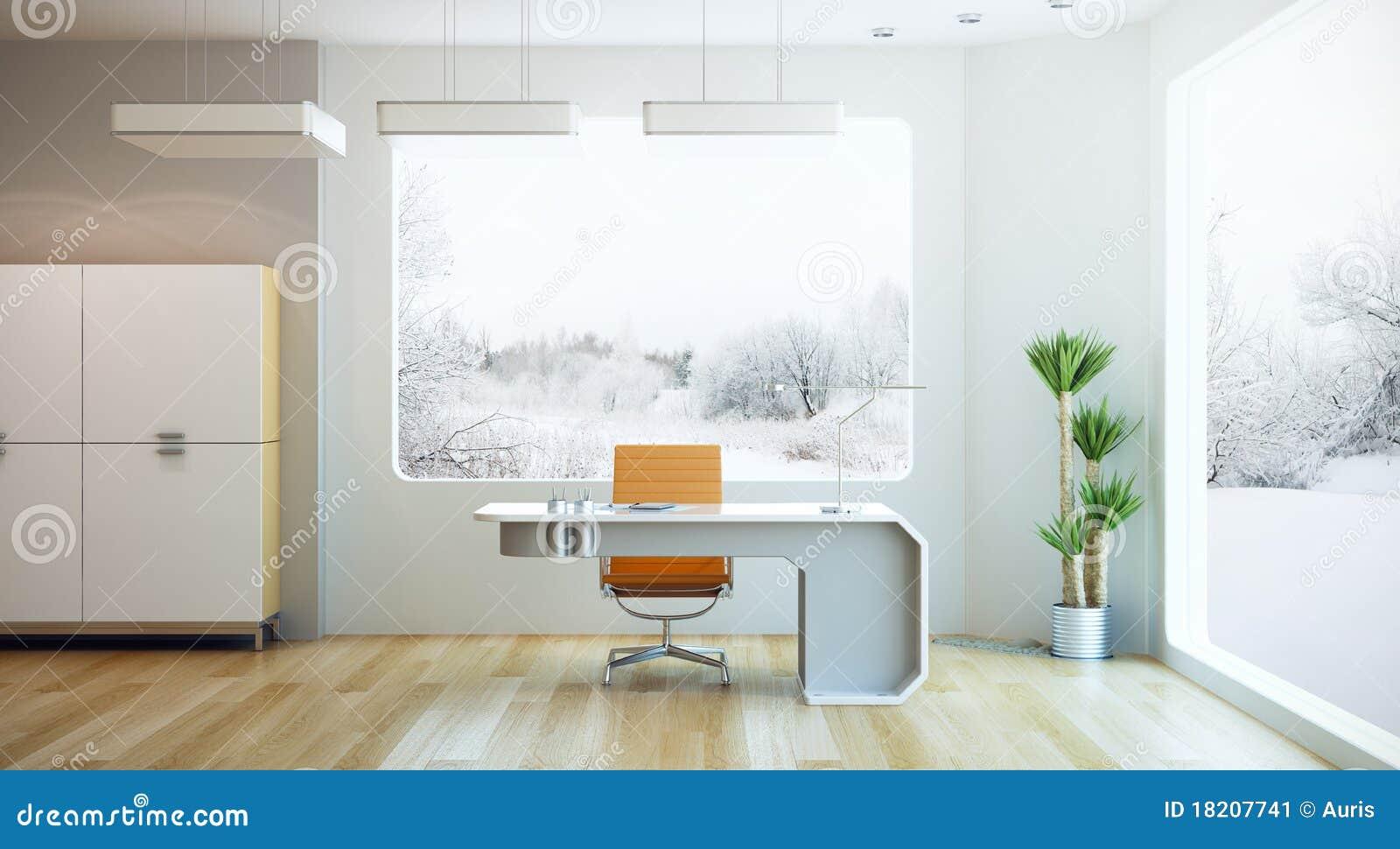 Dise o interior de oficina moderna imagen de archivo for Interior oficina