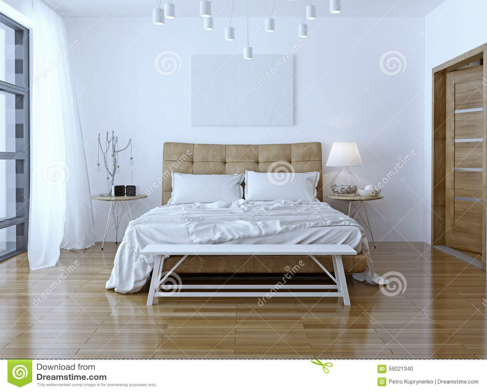 Diseño interior: Dormitorio moderno grande