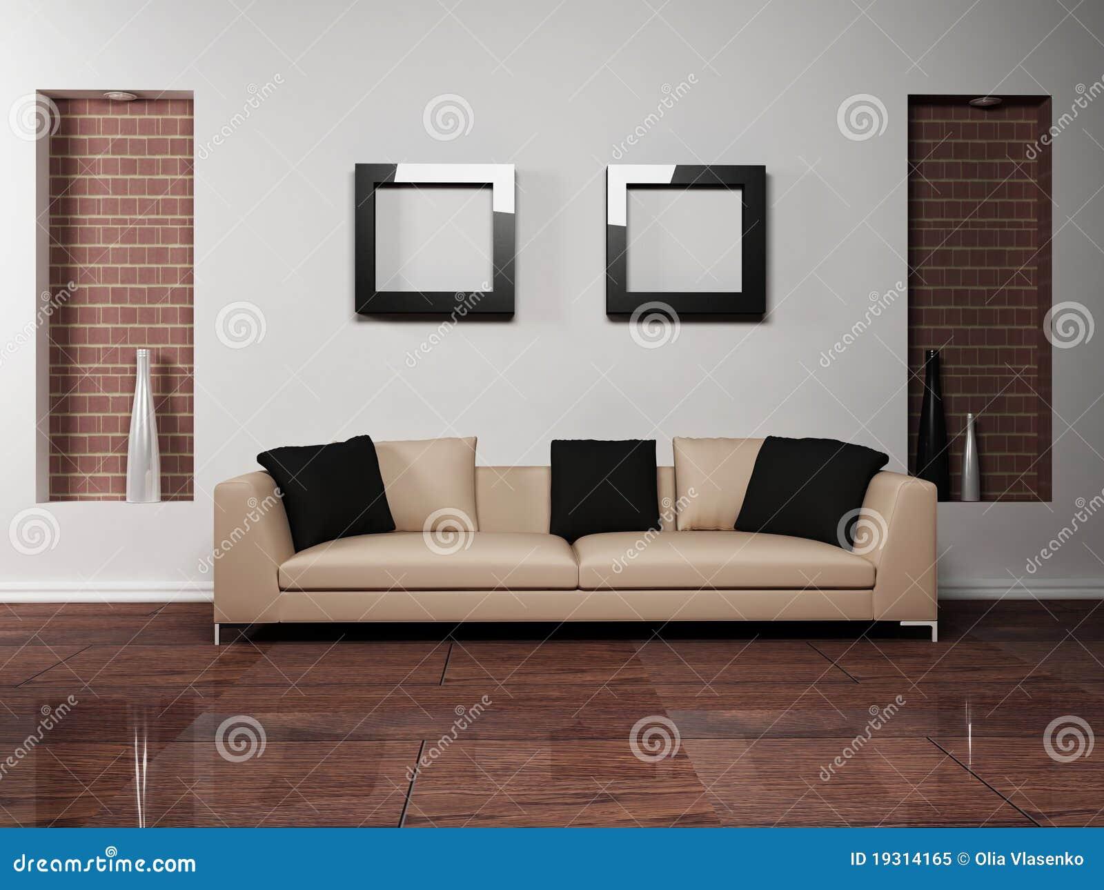 Dise o interior moderno de sala de estar con foto de archivo libre de regal as imagen 19314165 for Diseno interior moderno