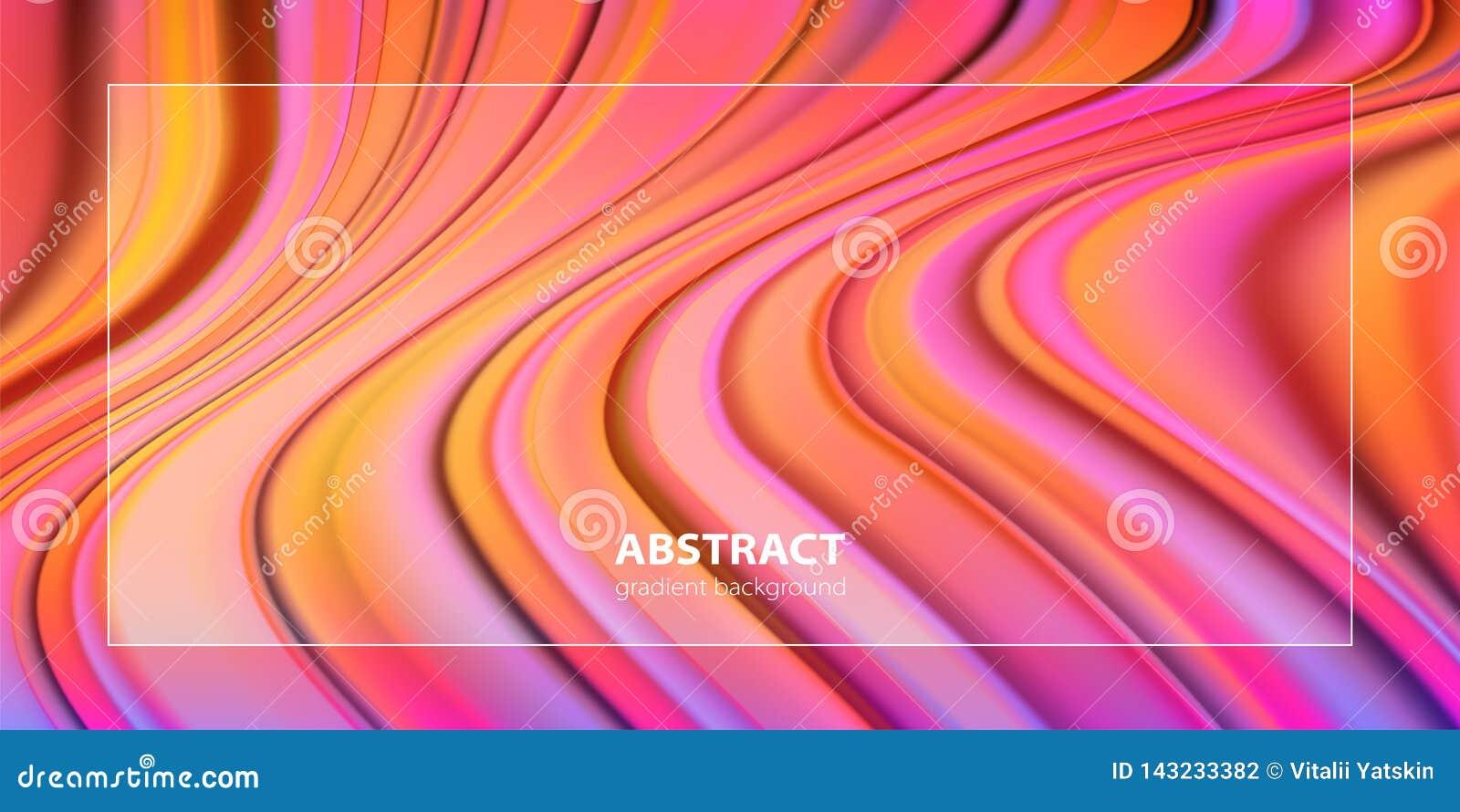Diseño líquido del fondo del color Carteles futuristas del diseño