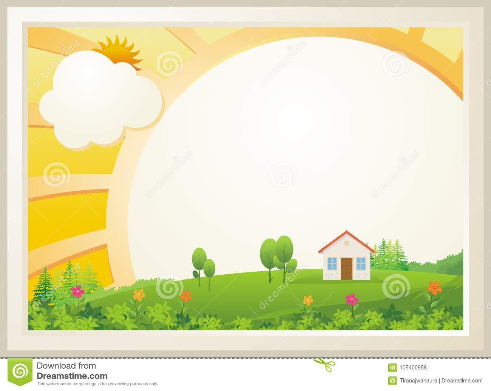 Diseño lindo de la plantilla del diploma de los niños