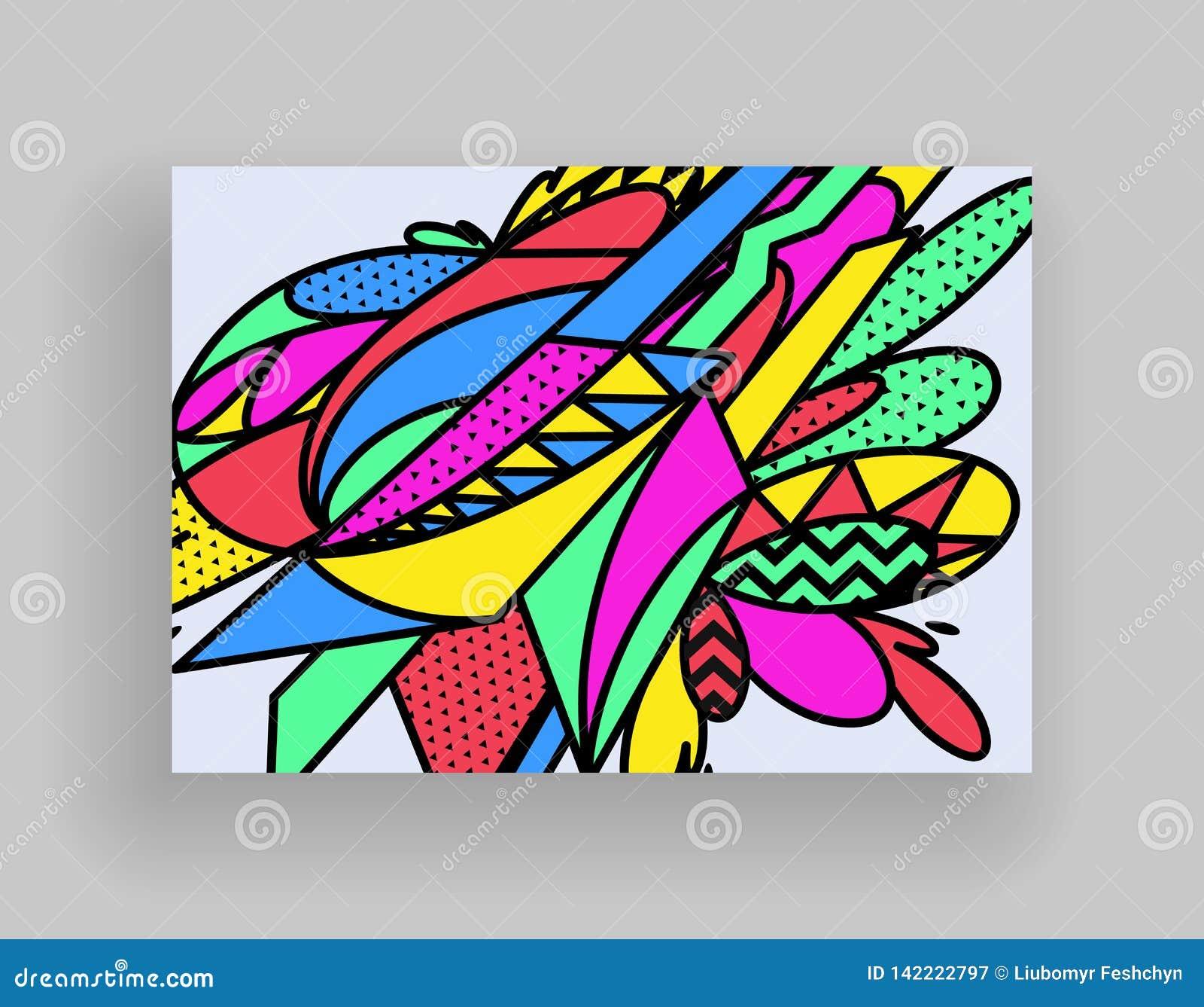 Diseño mínimo de las cubiertas Plantillas del cartel fijadas con las formas geométricas abstractas, diseño plano del estilo brill
