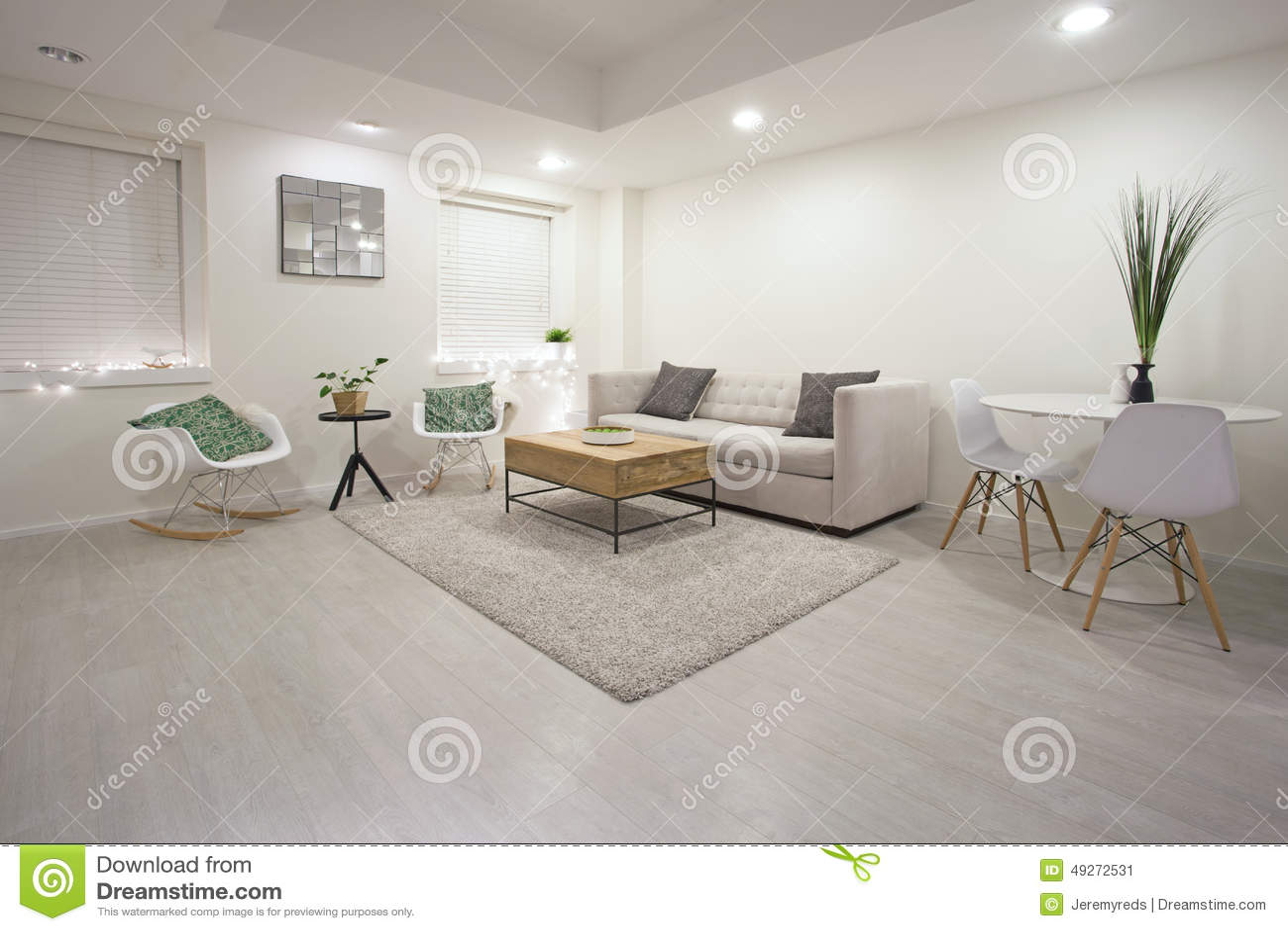Diseño moderno de la sala de estar