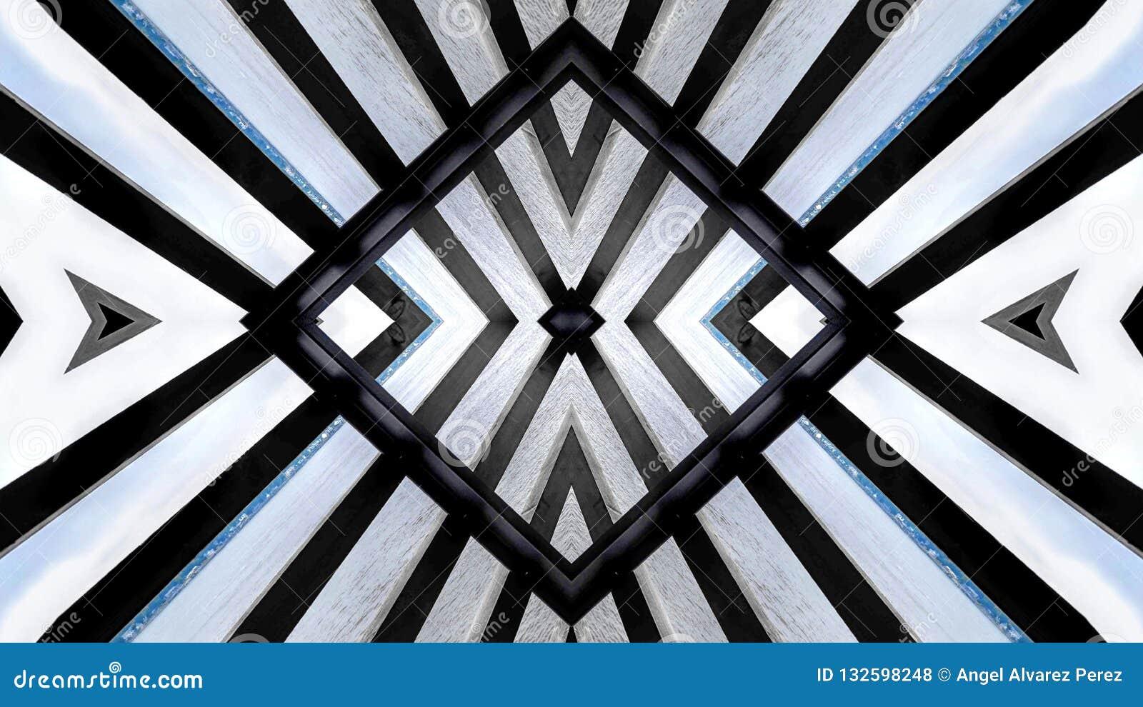Diseño moderno de una estructura de madera