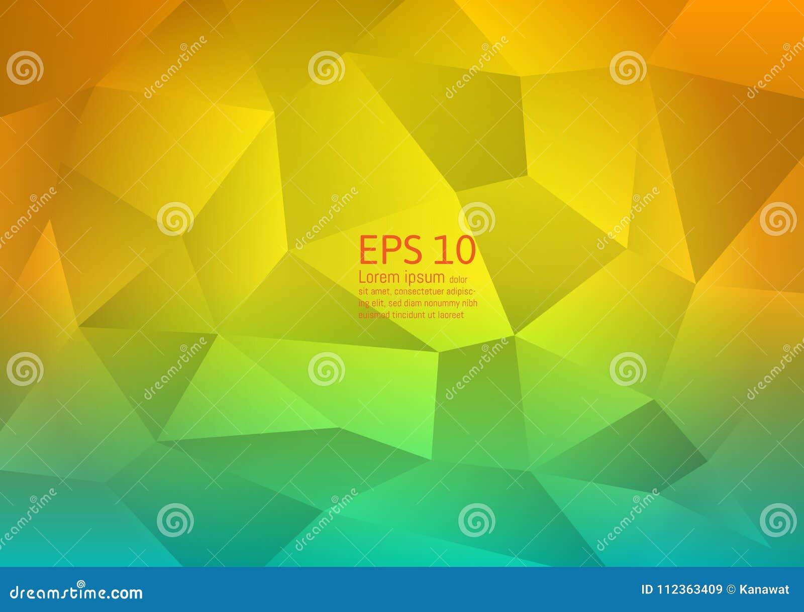 Diseño moderno del fondo abstracto del vector del polígono, ejemplo de las vacaciones de verano