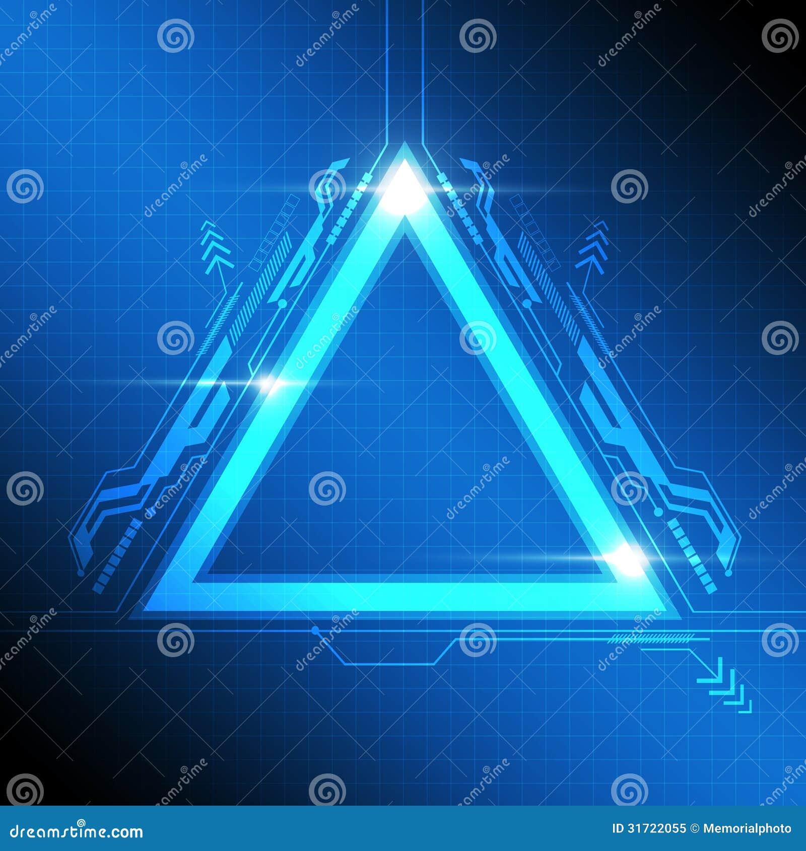 Diseño Moderno Del Marco Del Triángulo Ilustración del Vector ...