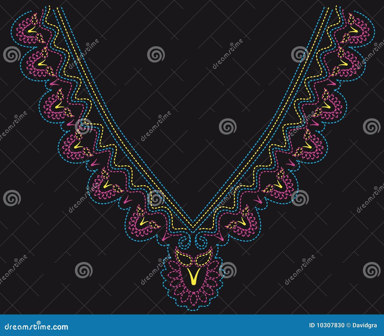Diseño moldeado colorido