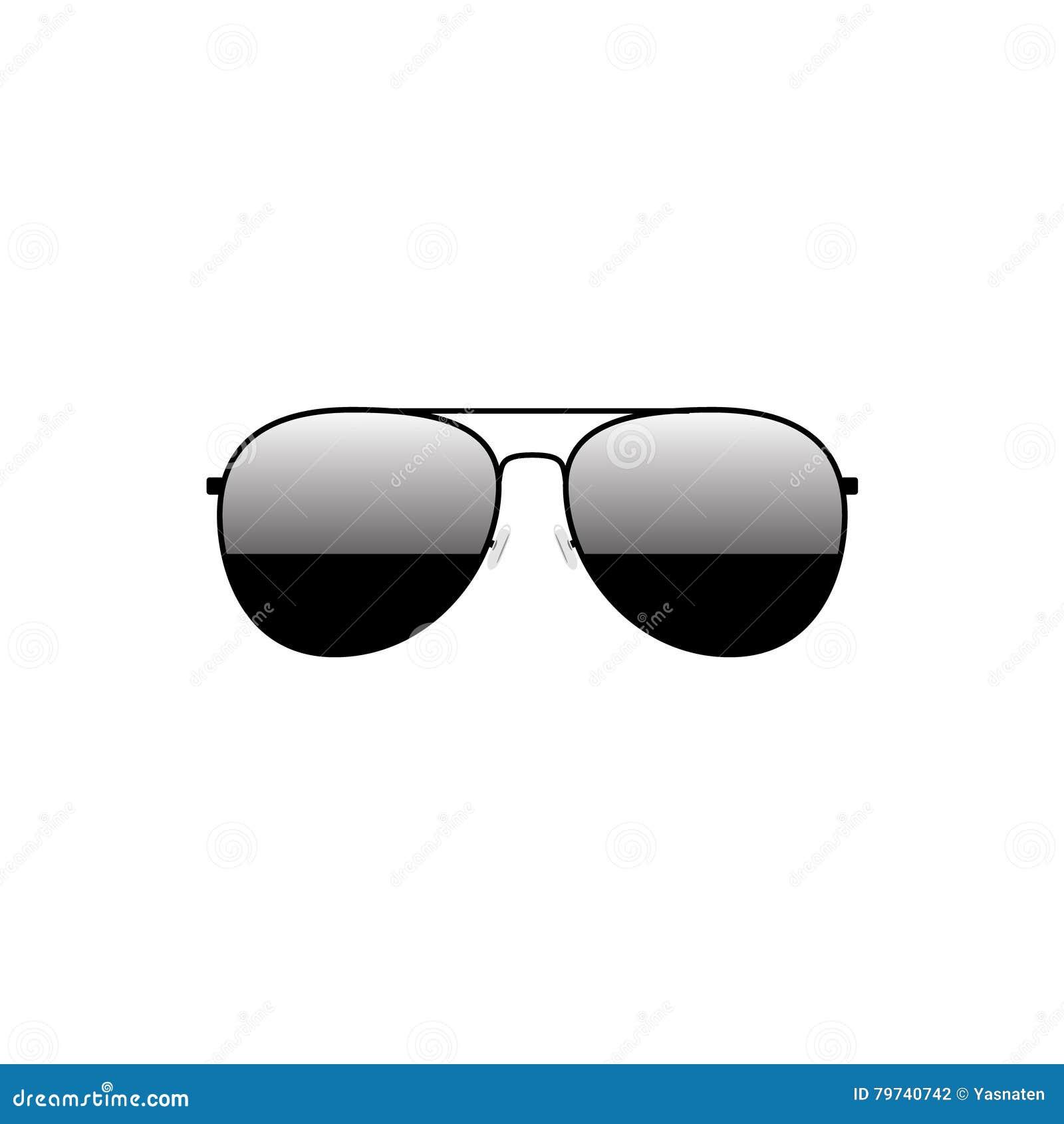 Diseño negro brillante de las gafas de sol tipo aviador