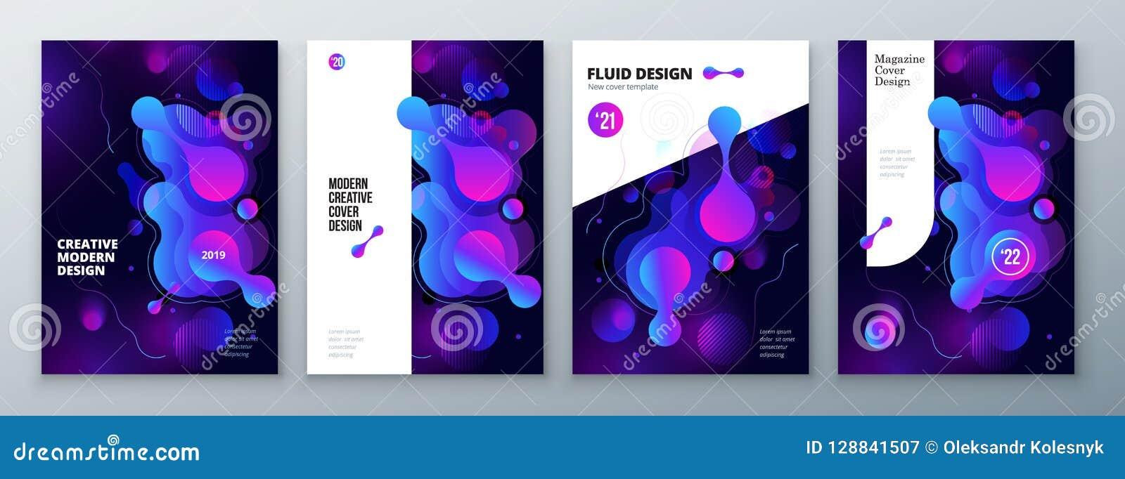 Diseño orgánico de la disposición del folleto Plantilla flúida brillante del color para el fondo del folleto, del catálogo, de la