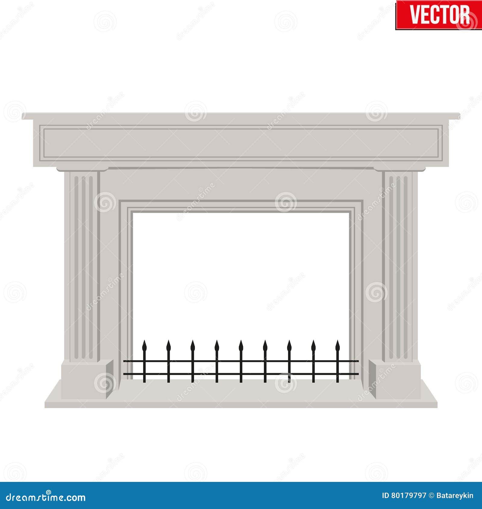 Dise o plano del estilo de la chimenea tradicional - Diseno de chimenea ...