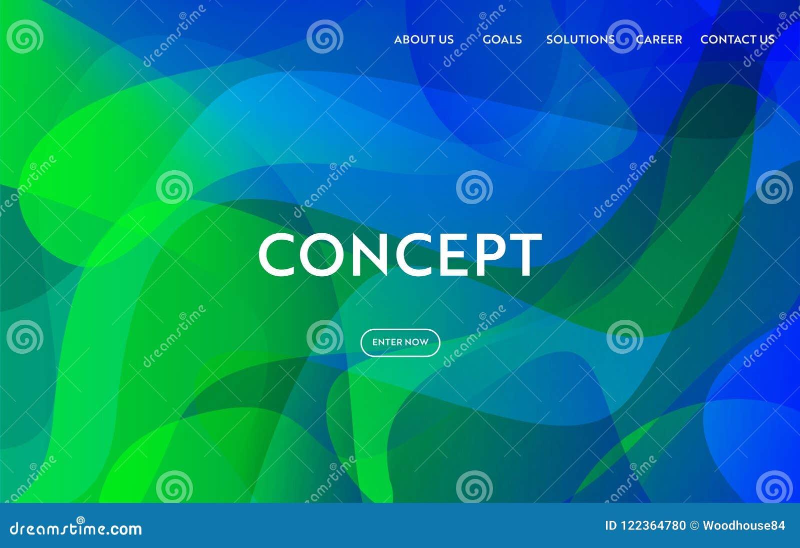 Diseño Plano Moderno De La Plantilla Del Sitio Web Concepto De La ...