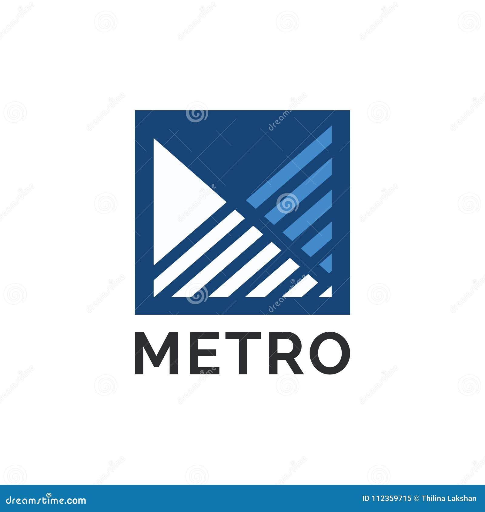 Diseño profesional moderno del logotipo del negocio de la letra m de la compañía en vector
