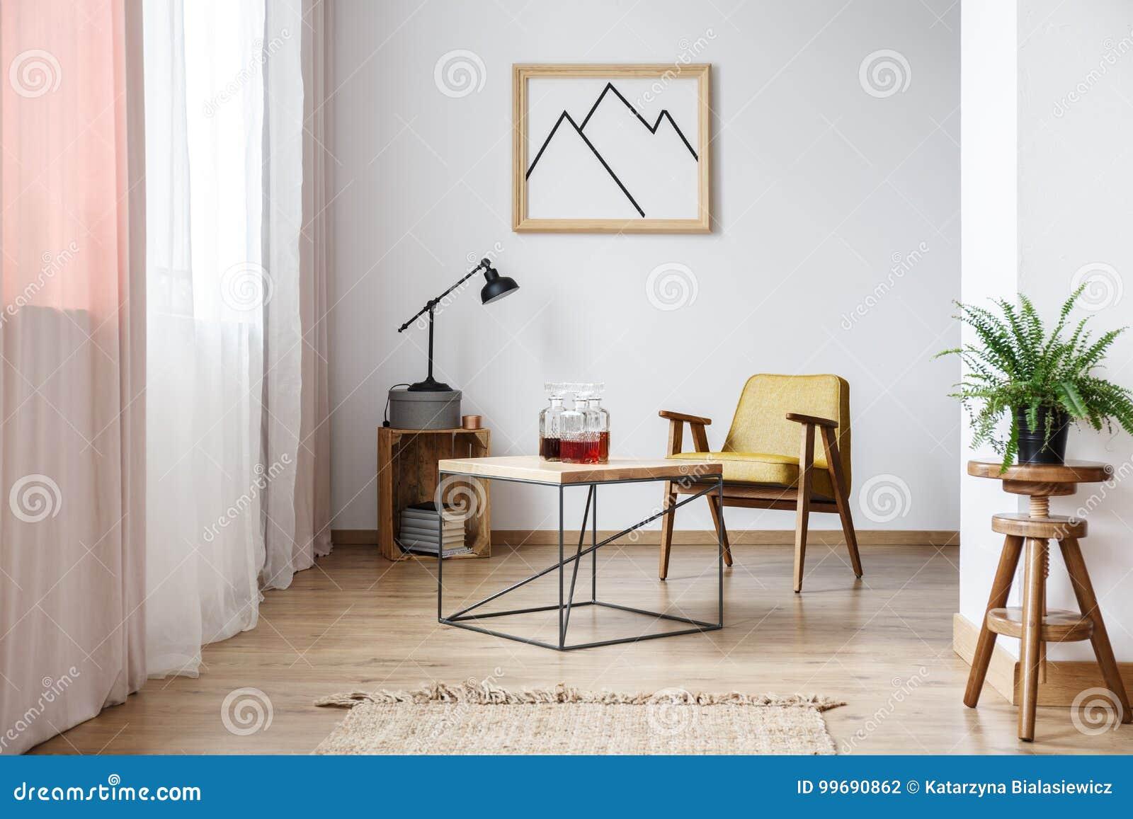 Diseño rústico de interior blanco