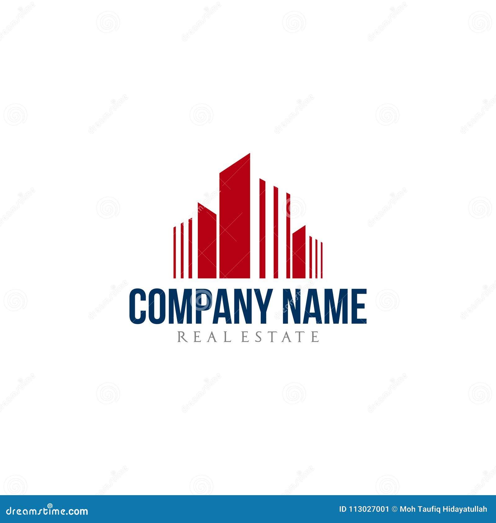 Diseño residencial del logotipo de la compañía de las propiedades inmobiliarias