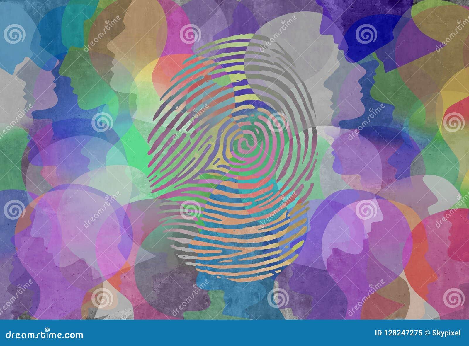 Diseño social del extracto de la identidad